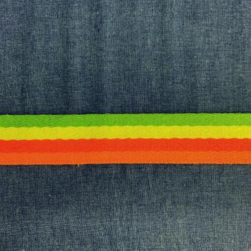 "Neon Multi Stripe (3.8 cm or 1.5"")"