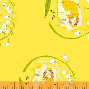 Far Far Away II by Heather Ross - Sleeping Beauty (Yellow)