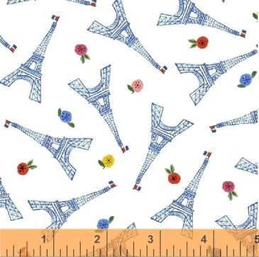 Ooh La La by Carolyn Gavin - Eiffel in White - Organic Cotton