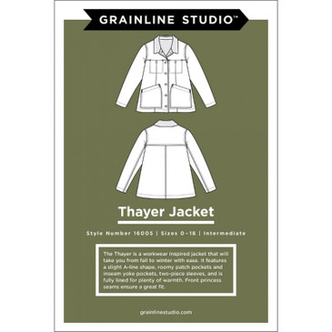 Grainline Studio - Thayer Jacket (Sizes 0-18)