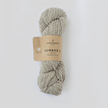 Garthenor No 2 - Fingering 4 Ply (Organic Shetland in Pebble) - 50g