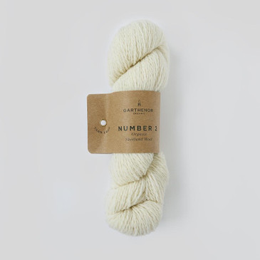 Garthenor No 2 - Fingering 4 Ply (Organic Shetland in Chalk) - 50g