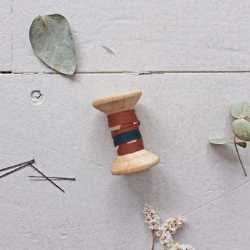 Atelier Brunette Bias Tape - Posie Chestnut