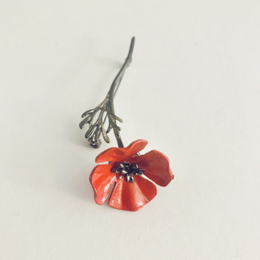 Poppy Brooch Pin