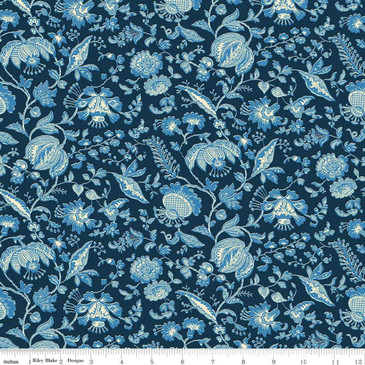 Liberty Quilting: Summer House Collection - Victoria Floral in Navy