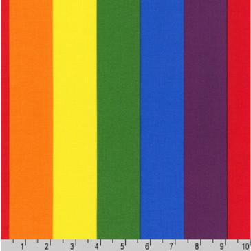 Robert Kaufman - Rainbow Stripes
