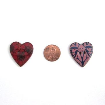 Heart Shaped Buttons - 1 1/8""
