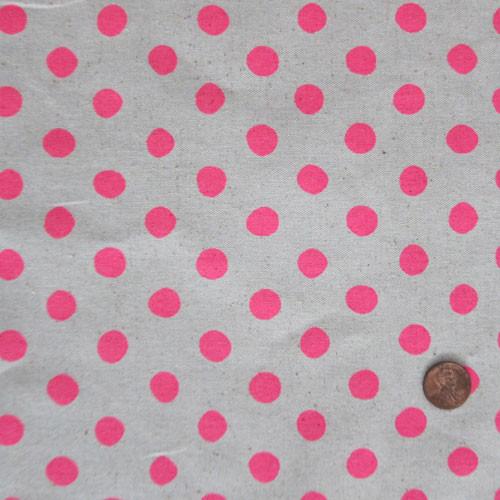 Neon Pink Polka Dots