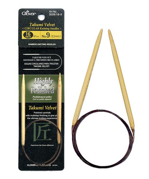 """Clover Takumi Velvet 16"""" Circular Knitting Needles"""