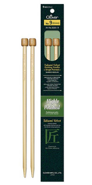 "Clover Takumi Velvet 9"" Single Point Needles"