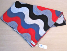 uimi wave blanket in merino wool -  Poppy, Navy, Denim, Snow, Smoke wave.