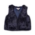 Fox & Finch Tara Fur Vest - Navy