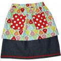 Oobi Sally Retro Blue Pear Skirt (sizes 2-8)