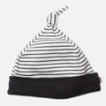 Bebe Ralph Tiny Stripe Knot Top Beanie