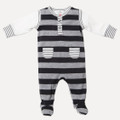 Bebe Ralph Mock Layer Romper with Feet