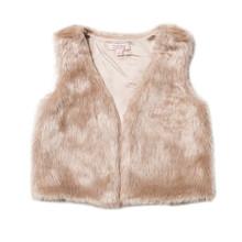 Fox & Finch Faith Fur Vest - Almond - (2-6)