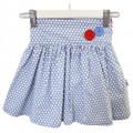 Oobi Darling Blue Bubble Dot Skirt