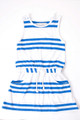 French Soda Stella Blue and White Stripe Summer Dress (5 to 8)