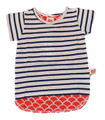 Oobi Riley Nautical Stripe and Scarlet Sunshine Top - Front