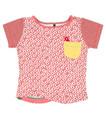 Oishi-m Koi Beauty Shortsleeve Pocket T Shirt - Front
