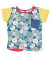 Oishi-m Hana Shortsleeve Pocket T Shirt - Front