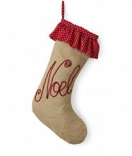Natural Jute Stocking - Noel