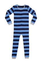 Huckleberry Lane Bright Blue Striped Onesie