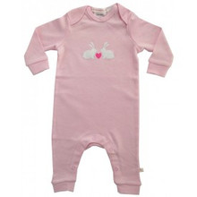 Huckleberry Lane Soft Pink Bunny Romper