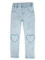 Curious Wonderland Heart Patch Denim Jeans