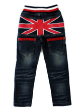 Curious Wonderland Flag Denim Jeans - Back