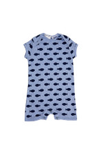 Huckleberry Lane Blue Marle Fish Romper (000 to 1)