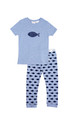 Huckleberry Lane Blue Marle Fish PJ's (1 to 8)