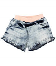 Curious Wonderland Frill Denim Shorts - Front