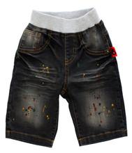 Curious Wonderland Paint Splatter Denim Shorts - Front