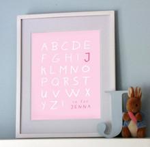 Personalised Alphabet Print - Girl