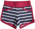Pink, Navy and White striped Shorts