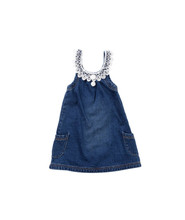 Havoc Denim Girls Vintage Lace Yoke Pinafore 2 - 6