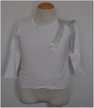 Alex & Ant Sparkle Long Sleeve Tee in White (1 - 4)