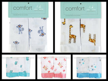 aden + anais issie security blankets 2 pack (amelia the monkey | duke the giraffe | declan the elephant | nay nay butterflies | aurelia blue stars)