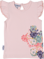 SOOKIbaby Flowers in Bloom Frill Sleeve Singlet - Front View