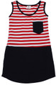 Anyday Dress - Navy/Red front