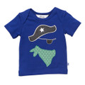 Bebe Iggy Envelope Neck Pirate Tee - Blue