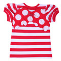 Oobi Ladybird Raspberry Jumbo Red Dot Wing Tee