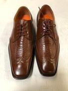 *ULTIMATE* Men's Gator Exotic Cognac Tan Fancy Unique Dress Shoe FREE SHIPPING - SZ 10.5