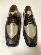 *ULTIMATE* Men's Brown Two-Tone Wingtip Dressy Shoes FREE SHIPPING - SZ 10.5