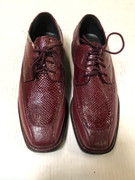 *ULTIMATE* Men's Burgundy Maroon Shiny Fancy Dress Shoe FREE SHIPPING - SZ 11W