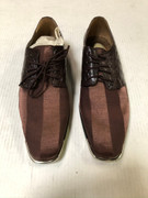 *ULTIMATE* Men's Fudge Maroon Striped Metal Front Dress Shoes FREE SHIPPING - SZ 9.5