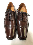 *ULTIMATE* Men's Brown Cap Toe Round Smooth Toe Dress Shoe FREE SHIPPING - SZ 10