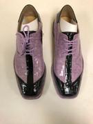 *ULTIMATE* Men's Lilac and Black Shiny Square Toe Two-Tone Croc Dress Shoe FREE SHIPPING - SZ 8.5