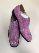 *ULTIMATE* Men's Fuchsia Pink Shiny Pointed Toe Croc Exotic Dress Shoe FREE SHIPPING - SZ 10.5